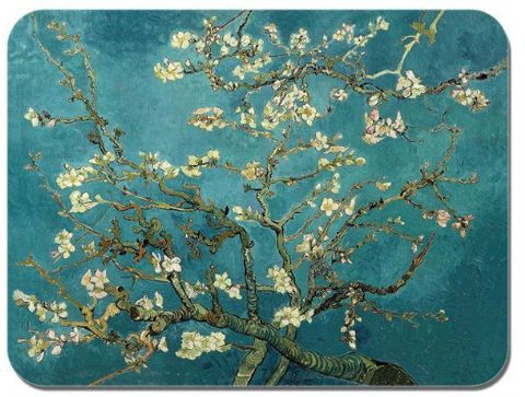 Vincent Van Gogh Blossoming Almond Tree. Mouse Mat. High Quality Art Mouse Pad